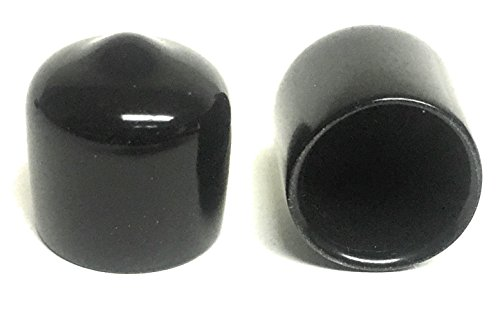 (Pack of 20) 1/2 inch Round Black Rubber/Vinyl Pipe End Cap Cover .5