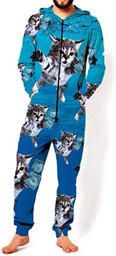 RsgeOn Let`s Rage Cat Cobain Premium All Over Print Onesie