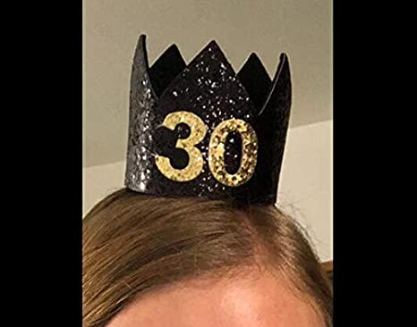 2 PCS Elastic Glitter Crown Birthday Hat for Baby Kids Adult Photo Prop Costumes Baby Shower Party-Silver Silver Glitter Birthday Crown