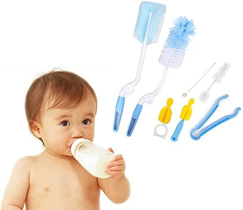iLifeTech Baby Rotary Spinning Bottle and Nipple Brush Set Baby ...