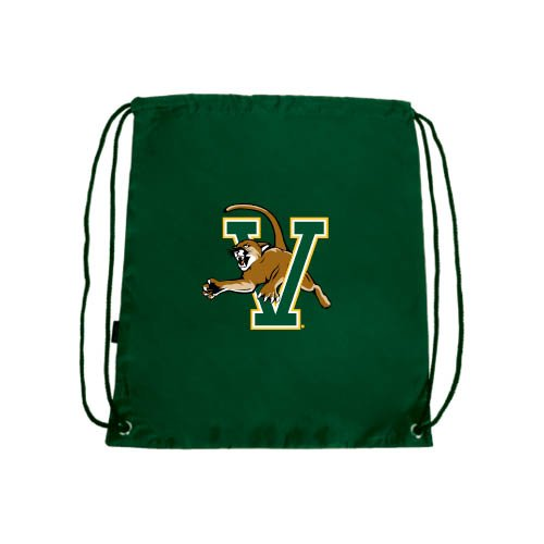 CollegeFanGear Vermont Dark Green Drawstring Backpack 'Official Logo'