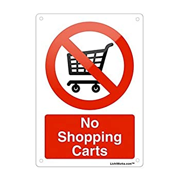 Amazon.com: Prohibido señal de Metal de aluminio sin carros ...