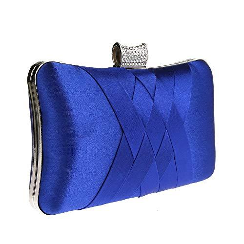 A La Se Bolso bolsos Mano De billetera Mujer Mujer Carteras Cena ora Con bluBluestilo Banquete Monederos bolso clutches Asistiendo Para Y Simple Vestir Diamante nvmN0wO8