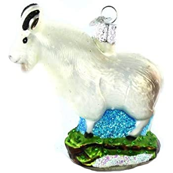 old world christmas mountain goat glass ornament