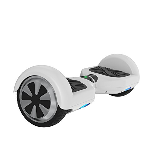 OTTO Self Balancing Scooter UL Certified The Scooter with LED light and Bluetooth Speaker T6SE(White, 6.5'