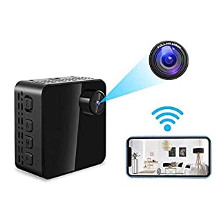 Spy Camera WiFi Hidden Camera Mini Home Security Surveillance Nanny Cam with Night Vision and Motion Detection for iPhone Android Remote Monitor