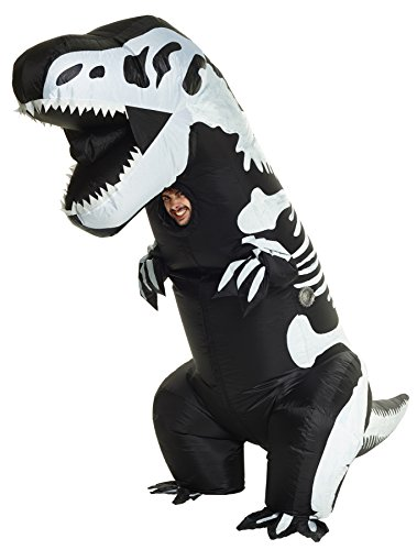 T-rex Costume Funny (UHC Inflatable Skeleton T-Rex Outfit Funny Theme Party Halloween Fancy Costume, OS)