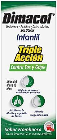 Dimacol Jarabe para la Tos Infantil Triple Acción, Caja con Frasco con 150 ml