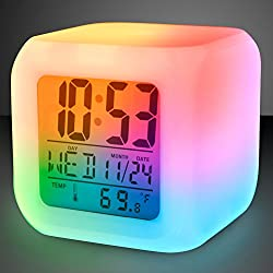 Light Up Color Change LED Digital Travel Alarm Clock