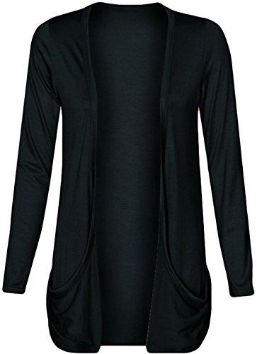 Pour Manche Longue Femme Gilet Poche Clothing Noir Ouvert Outofgas wE1qpxBFK