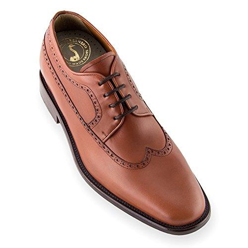 Zapatos De AuHombresto De Altura Para Hombres. Sé Más Alto 7 Cm / 2.75 Pulgadas. Modelo Lexter Brown