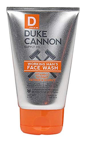 Duke Cannon Working Man's Face Wash for Men, 4 oz.
