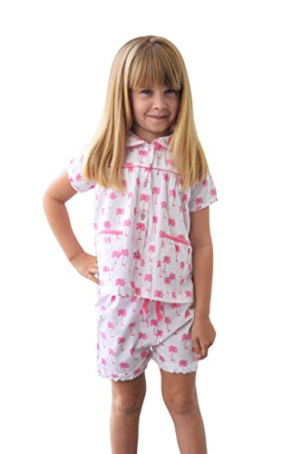 Palm Sunday Set (Sant and Abel Girls Palm Sunday Pink PJ Set Ten Pink)