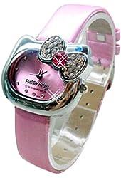 Lovely Fashion Hello Kitty watches Girls Ladies Wrist Watch WKT@DGWHK5P