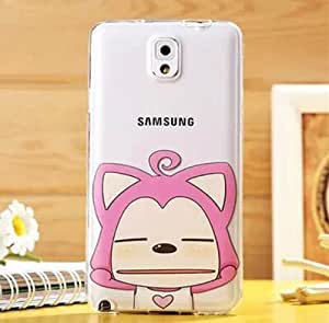 SHERRYLEE Newest Unique Cartoon Pink Fox Ali Pinched face Pattern TPU Silicon Case Cover for Samsung Galaxy Note3 N9000