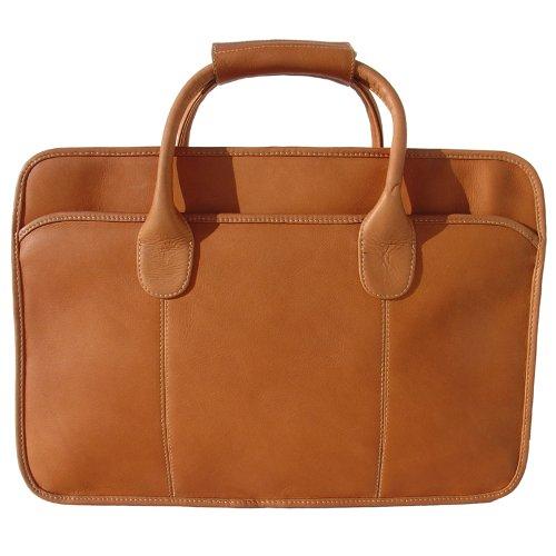 Leather Simple Portfolio - Piel Leather Simple Portfolio, Saddle, One Size
