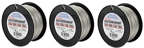 SuperSoftstrand 500-Feet Picture Wire Vinyl Coated Stranded Stainless Steel (3-Pack)