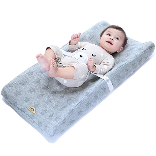 BlueSnail Plush Super Soft and Comfy Changing Pad Cover Change Table Cradle Bassinet Sheets for Baby 2-Pack (Navy Buffalo Plaid)