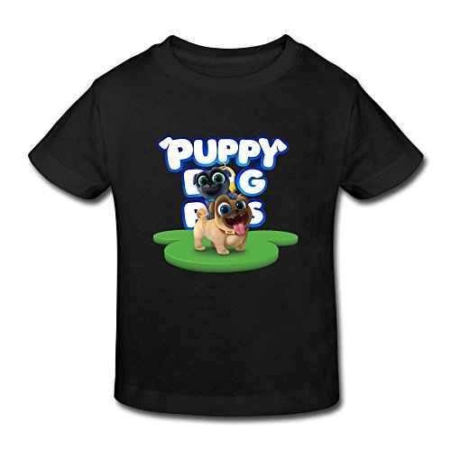 Ssuac Yi66 Puppy Dog Lovely Pals Unisex Kids Perfect Short Sleeve Tank Top Cotton T-Shirt Black 2 Toddler