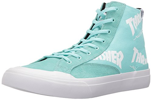HUF Men's X Thrasher Classic Hi Skateboarding Shoe, Mint, 9 US/9 M US