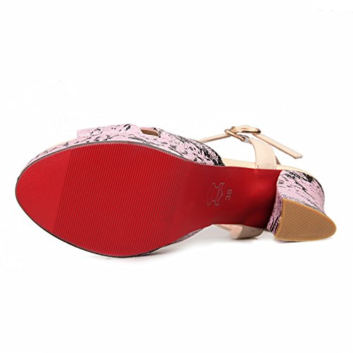 Zanpa Donna Moda Sandali Piattaforma Pink Heels wFrqnav4dw