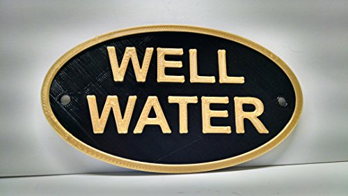 Well Water notice Plaque- Irrigation Sign (Water Notice)