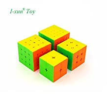 I-xun 2017 New Speed Magic Cube Set, MoYu MFS Puzzle Cube Gift Package (4 Pack)