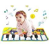 Huahuamini Musical Piano Mat Keyboard Play Mat Portable Musical Blanket Instrument Toy (Yellow)