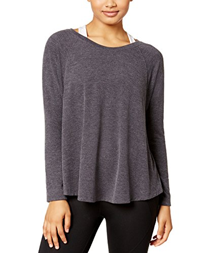 Calvin Klein Performance Women's Dolman-sleeve Brushed Jersey Top (Medium, Heather Grey)
