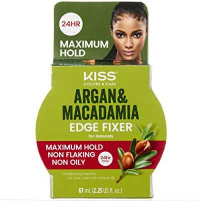 Kiss Colors & Care Argan & Macadamia Edge Fixer Maximum Hold 2.25 fl. oz.