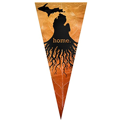 Hanging Michigan Roots Home Flag Sing Layer Triangle Banner Flag Vertical 12  X30