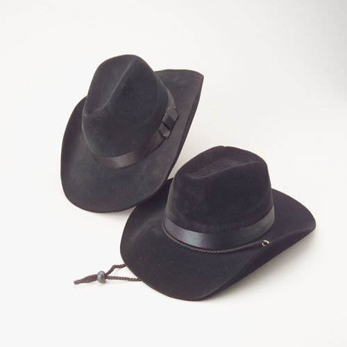 One 14 1/2'' Adult Foam Felt Cowboy Hat by U.S. Toy