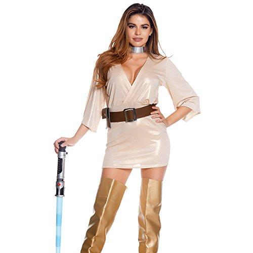 Forplay Women's Ravishing Rebel Sexy Movie Character Costume, Gold, (Rebel Spandex Costumes)