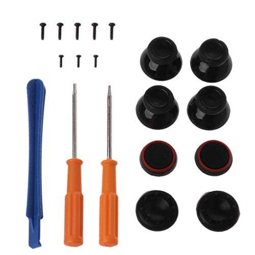 HOWWOH Joystick Analog Stick Module Arcade Thumbsticks Grip Gel Screwdrivers Tool Set Replacement Kits Black for Xbox ONE Controller Repair Parts