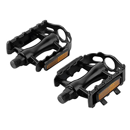 One Pair Mountain Road Bicycle Pedals Flat Aluminum Alloy Pedals Platform by Isguin (Image #4)