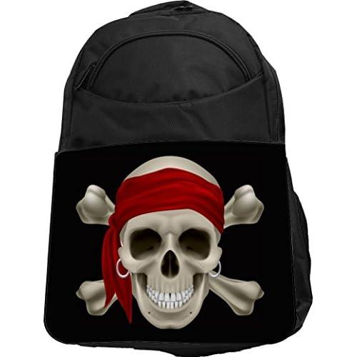 Rikki Knight UKBK Pirate Skull Tech BackPack - Padded for Laptops & Tablets Ideal for School or College Bag BackPack