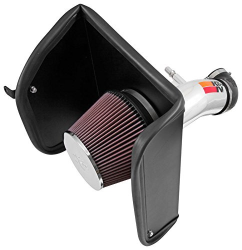 K&N Performance Air Intake Kit 77-3089KP with Polished Metal Tube and Lifetime Red Oiled Filter for Chevrolet Colorado, GMC Canyon by K&N