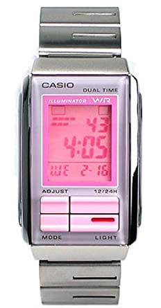 ceb5bb5bc Image Unavailable. Image not available for. Color: Casio Women's Futurist  Metal Band LCD Watch ...