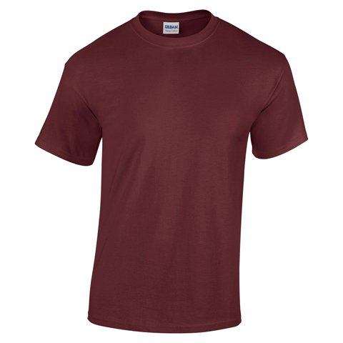 Gildan Heavy Cotton T- Shirt, Maroon, S