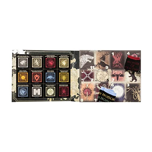 Colors May Vary 4-10 Womens Game of Thrones 12 Days of Socks Advent Calendar