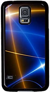 Shining Lines Samsung Galaxy S5 Case Durable Protective Case for Black Cover Skin - Compatible With Samsung Galaxy S5 SV i9600