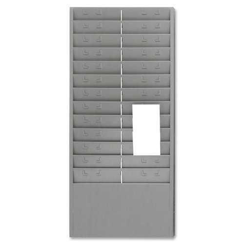MMF27012JTRGY - Steel Time Card Rack with Adjustable Dividers