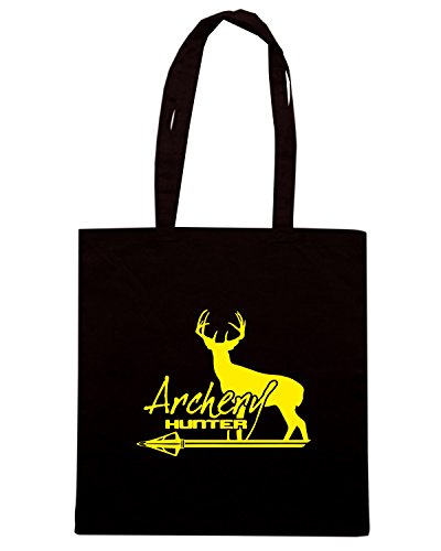 T-Shirtshock - Bolsa para la compra FUN0625 archery hunter diecut decal 16730 Negro