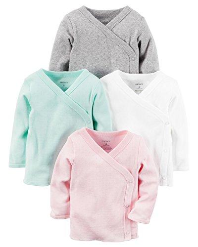 Carter's Baby Girls' 4 Pack Kimono Tees - Newborn