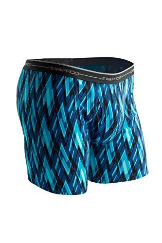 ExOfficio Men's Sol Cool Print Boxer Brief, Atlantic/Modern Argyle, (Ex Officio Long Underwear)