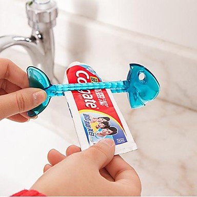 Kaifina Fishbone Shaped Plastic Toothpaste Squeezer(Random Color)