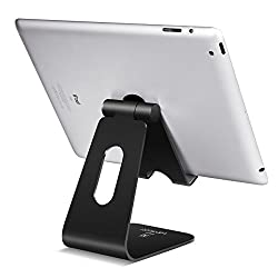Tablet Stand Multi-Angle, Lamicall Tablet Holder: Desktop Adjustable Dock Cradle Compatible with Tablets Such as iPad Air Mini 2 3 4 Pro, Phone XS Max XR X 6 7 8 Plus More Tablets (4-13 inch) - Black