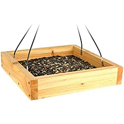 Thomas Moore Feed 2278 Cedar Tray Hanging Bird Feeder