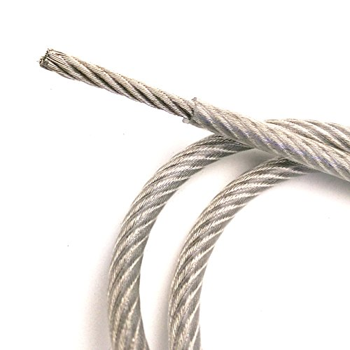 Plastic Coated Wire Rope - PSI - Galvanized Steel 3/16