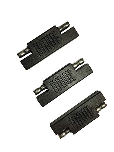 Sunway Solar SAE Polarity Reverse Adapter Connectors For Quick Disconnect Extension Cable, Solar Panel Battery Power Charger And Maintainer-3Pack